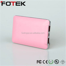 new gift led slim portable 5000mah power bank case/Samsung leather texture mobile power