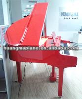 Digital Piano 88 keys Red Polish Digital Baby Grand Piano HUANGMA HD-W120 piano skid