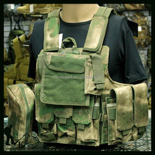 Durable camouflage quick release military bulletproof vest
