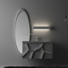 New designers Simple Bathroom Vanity, Modern wall hung Bathroom Vanity cabinet ,bathroom storage with mirror