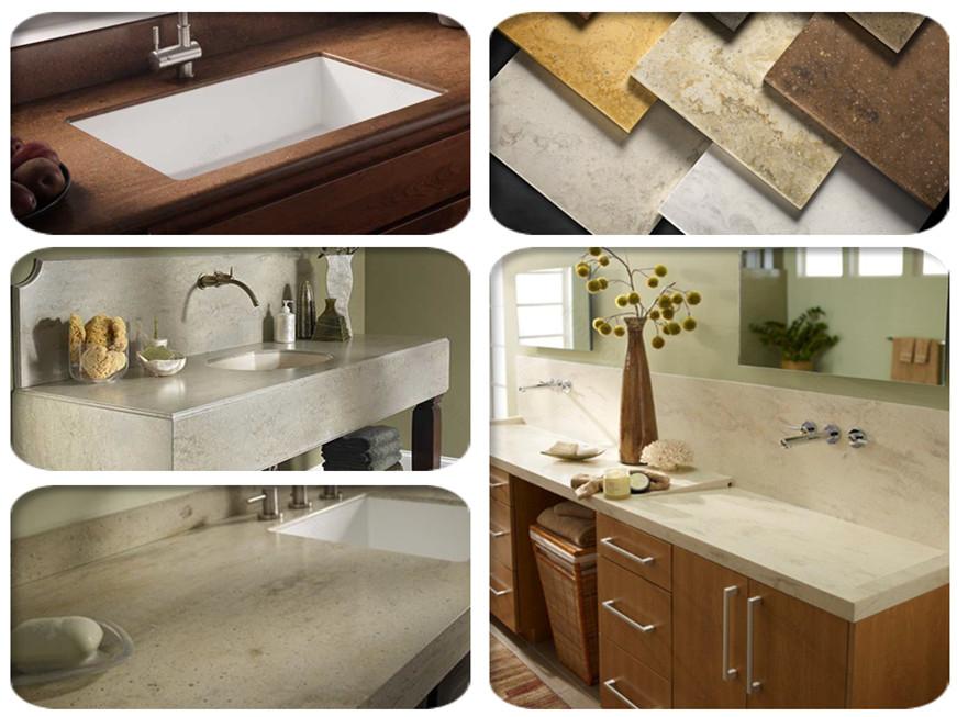 Prefab Vanity Countertops : Marble stone vanity top prefab bathroom countertop buy
