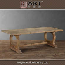 Antique furniture european recycled fir wooden dining room table