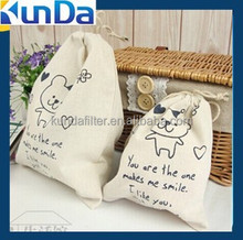 cotton dust drawstring bag