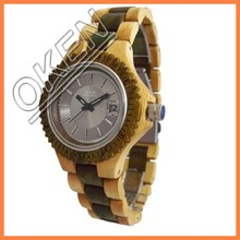 3ATM waterproof Most Classic Wooden Watch with Red Sandalwood & Stainless Steel Material wood bamboo watches