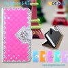 Luxury Bling Glitter Diamond PU flip leather case for iphone 6 plus