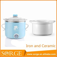 China Manufacturer Blue 100W 0.8L Iron Electric Soup Cooker