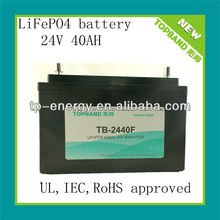 TOPBAND 24V 40AH li-ion battery pack for solar street light with PCM protection(Shenzhen supplier)