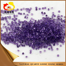Good polishing Small size Round cut Natural amethyst in loose gemstones