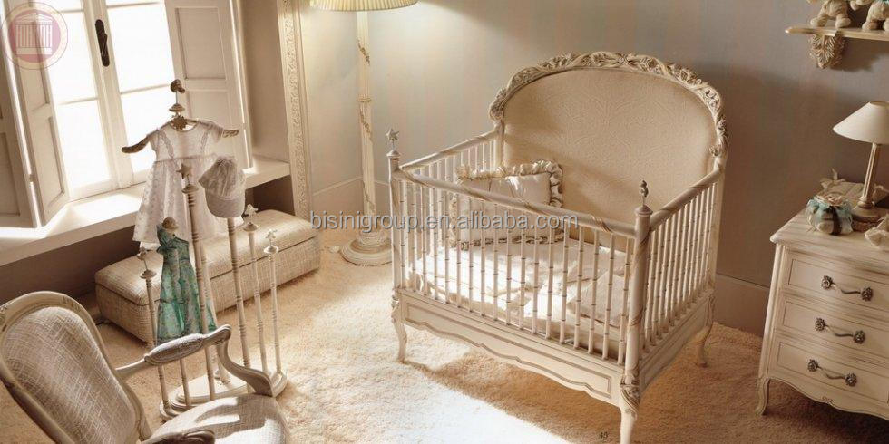 Bed Set French Style White Elegant Bedroom Furniture Baby Bedding Set