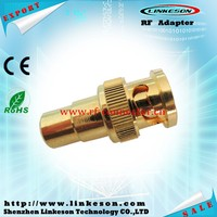 Best BNC male to RCA male coaxial connector with gold plated