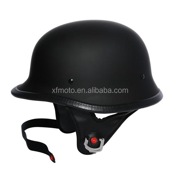 moto biker seconde guerre mondiale style dot noir en cuir allemand moto demi casque w pilote. Black Bedroom Furniture Sets. Home Design Ideas