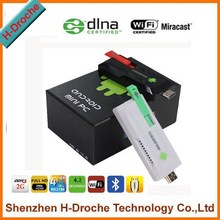 under hot RK3188 quad core android 4.4 smart tv dongle 2GB/8GB cheapest mk809iv mini pc hd mi android smart tv dongle stick