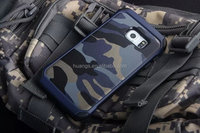 High quality hybrid armor camouflage rugged shockproof phone case cover for samsung galaxy s6 edge case fast shipping