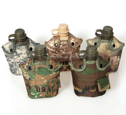 Outdoor water bottle aluminum lunch box, the camouflage cloth with the kettle