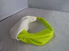 fashion elastic sport headband white and green