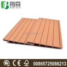 Decorative Wood and Plastic Composite Planks Wall Hanging WPC Wall Panels