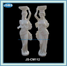 decorative hand carved marble lighted wedding columns