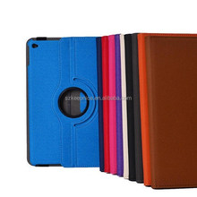 Rotating Ipad Air 2 for Notebook Leather Case with Denim Fabric