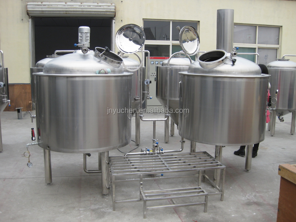 500l beer brewing equipment glycol cooling beer fermenters for Craft kettle brewing equipment