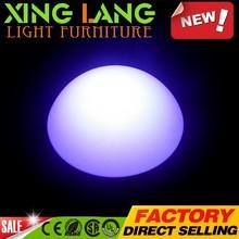 elegant brand new colored PE plastic RGB color change waterproof LED square light with flash lighting inside