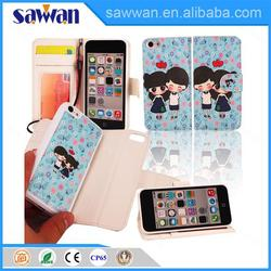2 in 1 wallet case cell phone case with storage for iphone 5C