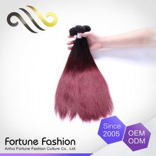 Super Price Custom-Tailor 100 Precent Real Human Wet And Wavy Ombre Colored Indian Human Hair Weave