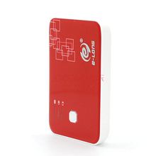 mobile phone charging vending machine - E-LONG D760 5000 mAh portable power bank - dual USB portable charger in red color