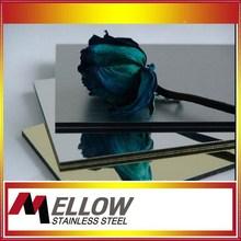 Foshan Mellow 8K/Hairline/Titanium Surface 304/201 Stainless Steel Sheet For Elevator/Wall Panel