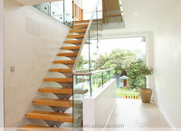 stair with tempered glass wood step stainless handrail indoor stair step tread construction real estate architect contractor s1