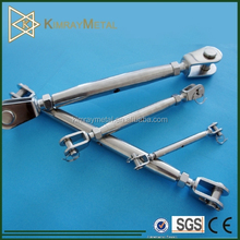 Stainless Steel Closed Body Rigging Screw With Safety Nut