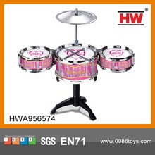 High Quality Plastic Kids Black Toy Miniature Drum Set