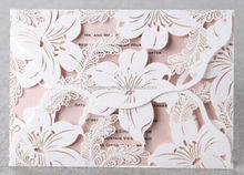 Newmengxing fancy Flower shaped laser cut Weddng invitations cards