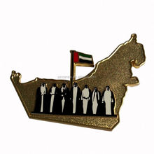 custom UAE country map with sheikh badges/ UAE national day gift