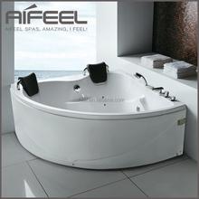 2015 new design acrylic bathtub two persons freestanding bathtub