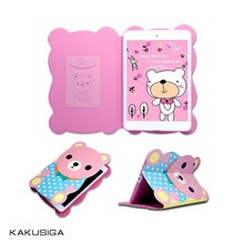 2014 cute leather case for ipad mini kids tablets