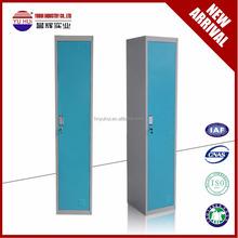 metal single door clothes locker / 1 compartment locker / steel white 2 tiers locker