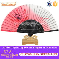 Customise silk folding hand fans with your deisng