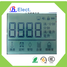 positive character 4 digit 8segment ,cheap monochrome black TN,intelligent transfusion lcd display