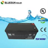 High efficiency ISO CE SGS 12V 200AH agm marine deep cycle battery