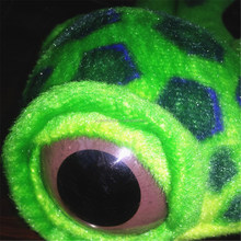 OEM lovely colorful big brown eyes plush turtle toy sea animal toys