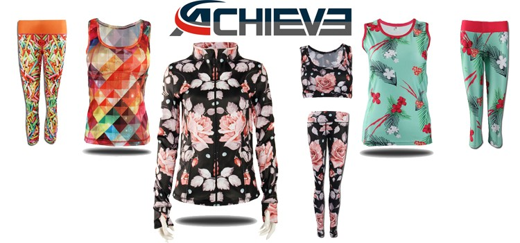 Custom Sublimated And Screen Printed Fitness Yoga Wear For ...