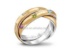 A Heartfelt Bond Personalized Birthstone Ring For Mother