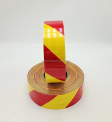 New PET yellow and red Zebra lines micro prism diamond grade reflective tape