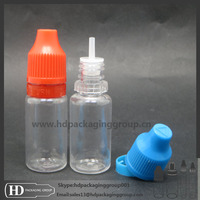 HOT!!NEW E-cig liquid bottle PET unicorn bottle plastic pet 10ml 15ml 30ml drip forchild tamper proof cap