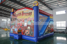 New Arrival Mc Inflatable Queen Car Bouncy House Combo Jumper, Inflatable Jumping Slide Bouncer