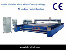 High pressure abrasive water jet cutting for marble granite thick metal