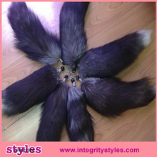Foxtail for bag elegant large fox tail fur keychain