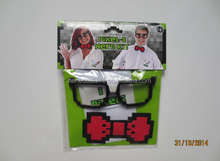 2015 latest Acrylic Pixelated Bow Tie ,bowknot plastic bow tie Brooch