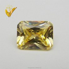 2015 new product naples yellow synthetic loose diamond rectangle cut corner for fashion jewelry