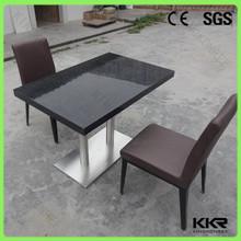 Base in acciaio inox superficie solida tavolo, tavolino in pietra